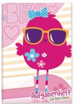 Aufgabenheft Farbenfroh mini A6 [Pink Bird]
