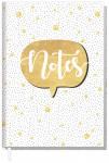 """Trendstuff Notizbuch A5 liniert """"Gold"""""""