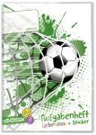 Grundschul Aufgabenheft farbenfroh mit Stickern Fußball