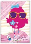 Grundschul Aufgabenheft farbenfroh mit Stickern Pink Bird