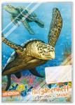 Grundschul Aufgabenheft farbenfroh mit Stickern Schildkröte