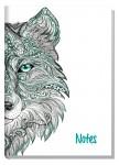 Trendstuff Notizbuch A5 liniert Wolf