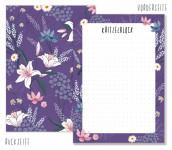 Trendstuff Block A6 Dark Flower Notizen