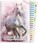 Grundschul-Aufgabenheft A5 mit Sticker [Pferd]