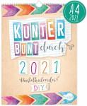 Bastelkalender Kunterbunt 2021 A4+