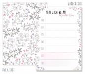 Trendstuff Block A6 Blumen Wochenplan