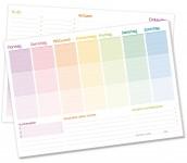 Tisch-Block Wochenplan A4 Rainbow