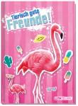 Freundebuch tierisch gute Freunde A5 [Flamingo]