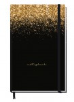 "Trendstuff Journal kariert A6+ ""Glitter & Gold"""