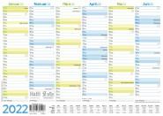 Tafelkalender 2022 A4 [Blau-Grün]