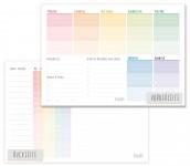 Trendstuff Block A5 Rainbow Wochenplan