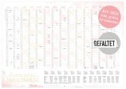 Wandkalender 2022 A1 - 15 Monate: Nov 2021 - Jan 2023 + extra A4 Übersicht