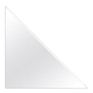 Kunststoff Dreiecktasche 4er Set 7,5x7,5 cm für A6