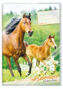 Grundschul Aufgabenheft farbenfroh Pferde