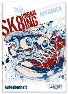 Schulstuff Aufgabenheft A6 Skate
