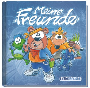 Lernfreunde Freundebuch metallic blau