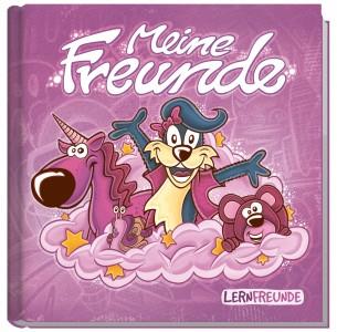 Lernfreunde Freundebuch metallic rosa